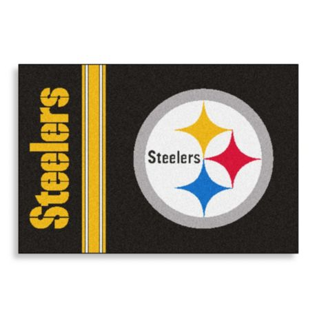 Nfl Bordered Team Graphics Pittsburgh Steelers 20 Inch X 30 Inch Floor Mat Bed Bath Beyond