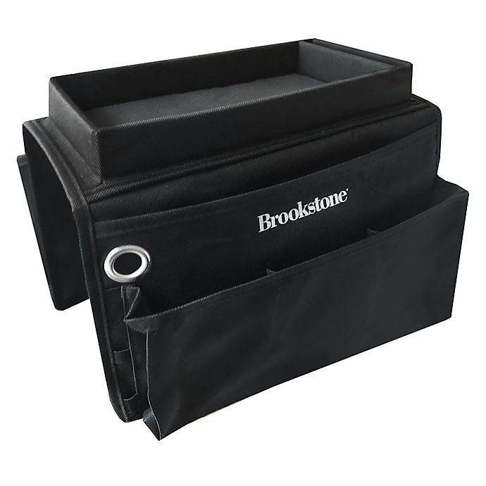 Alternate image 1 for Brookstone 6-Pocket Armrest Organizer in Black