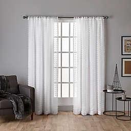 Spirit Sheer 2-Pack  96-Inch Rod Pocket Window Curtain in Winter White