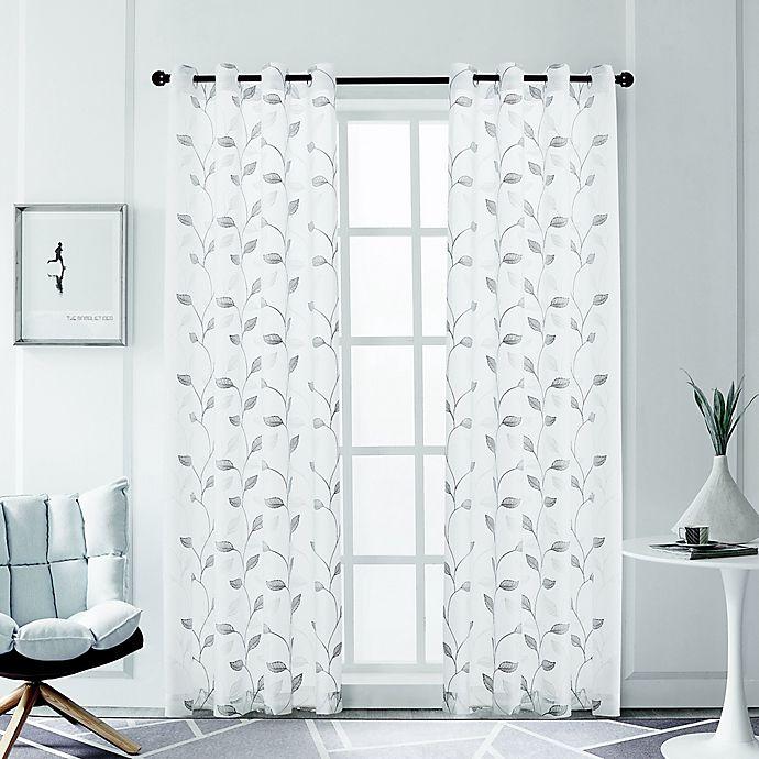 Alternate image 1 for Clarita Grommet Sheer Light Filtering Window Curtain Panel  (Single)