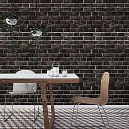 Tempaper® Brick Vinyl Wallpaper in Ebony
