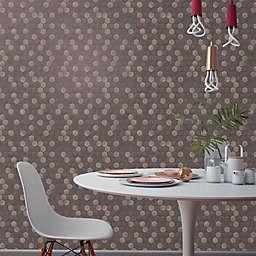 Tempaper® Hexagon Tile Peel and Stick Wallpaper in Brown