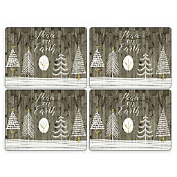 "Pimpernel ""Peace on Earth"" White Christmas Placemats (Set of 4)"