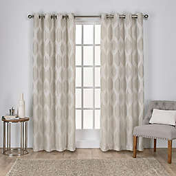 Montrose 2-Pack 108-Inch Grommet Window Curtain in Linen