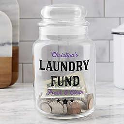 Laundry Fund Personalized Glass Money Jar