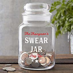 Personalized Glass Swear Jar
