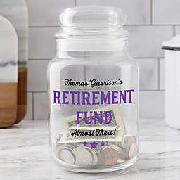Retirement Fund Personalized Glass Money Jar