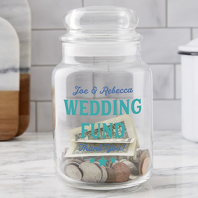 Wedding Fund Personalized Glass Money Jar Bed Bath Beyond