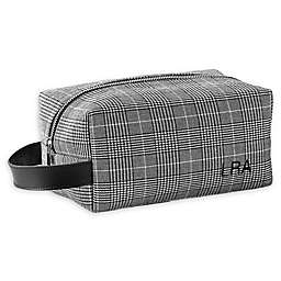 Cathy's Concepts Plaid Travel Dopp Kit in Black
