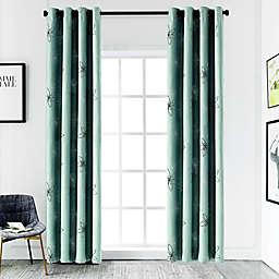 Crawford 126-Inch Grommet Room Darkening Window Curtain Panel in Grey Mist