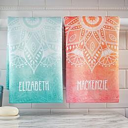 Mandala Personalized Hand Towel