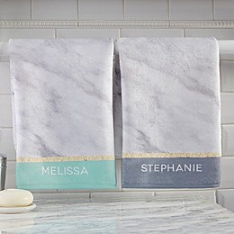 Marble Chic Personalized Hand Towel