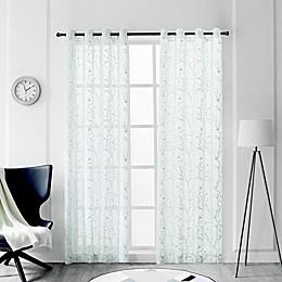 Tess Grommet Sheer Window Curtain Panel