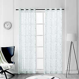 Tess 84-Inch Grommet Sheer Window Curtain Panel in Lake Blue