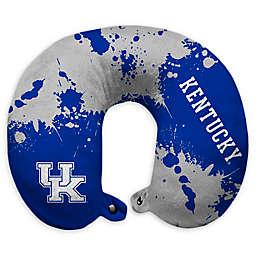 University of Kentucky Splatter Print Plush Microfiber Travel Pillow with Snap Closure