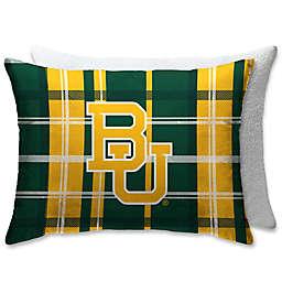 Baylor University Plaid Sherpa Bed Pillow