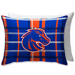 Boise State University Plaid Sherpa Bed Pillow