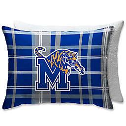 University of Memphis Plaid Sherpa Bed Pillow