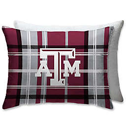 Texas A&M University Plaid Sherpa Bed Pillow