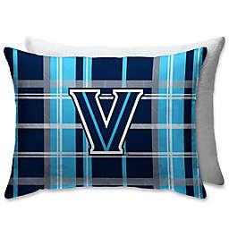 Villanova University Plaid Sherpa Bed Pillow