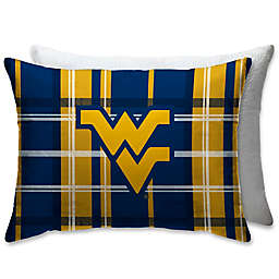 West Virginia University Plaid Sherpa Bed Pillow