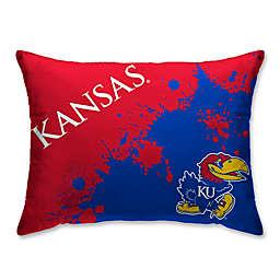 Kansas State University Splatter Print Microfiber Bed Pillow