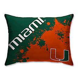 University of Miami Splatter Print Microfiber Bed Pillow