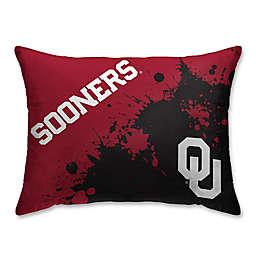 University of Oklahoma Splatter Print Microfiber Bed Pillow