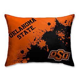 Oklahoma State University Splatter Print Microfiber Bed Pillow