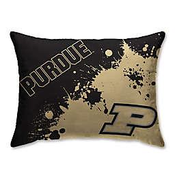 Purdue University Splatter Print Microfiber Bed Pillow