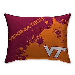 Virginia Tech University Splatter Print Microfiber Bed Pillow