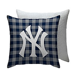 MLB New York Yankees Checkered Square Indoor/Outdoor Throw Pillow