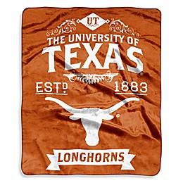 University of Texas Raschel Throw Blanket