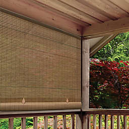 Farmhouse Roll-Up Cordless Oval Shade