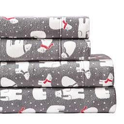 Morgan Home Ultra Plush Fleece Polar Bear Twin Sheet Set