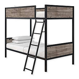 Everyroom Bianca Twin Over Twin Bunk Bed in Wood/Metal