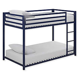 Mason Twin over Twin Metal Bunk Bed in Blue
