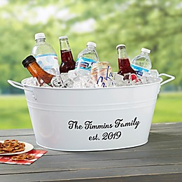Family Name Personalized Beverage Tub