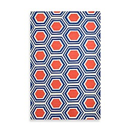 Surya Andrews Honeycomb Rug in Royal Blue
