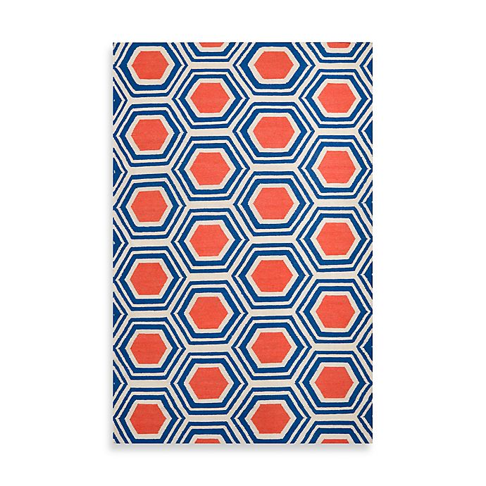 Alternate image 1 for Surya Andrews Honeycomb Rug in Royal Blue