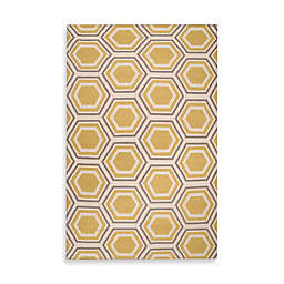 Jill Rosenwald Andrews 2' x 3' Accent Rug in Yellow/Cream/Grey