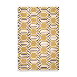 Jill Rosenwald Andrews 2' x 3' Accent Rug in Yellow/Cream/Grey