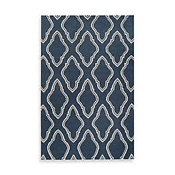 Jill Rosenwald Anna Geometric 2' x 3' Accent Rug in Blue/Cream