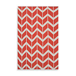 Jill Rosenwald Anton ZigZag 2' x 3' Rug in Orange