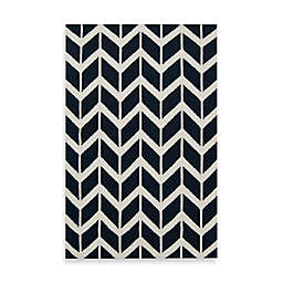 Jill Rosenwald Anton Chevron 2' x 3' Accent Rug in Federal Blue