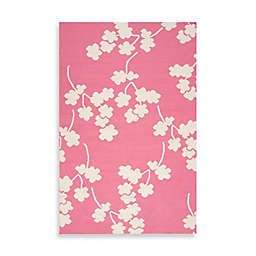 Surya Atlanta Floral Rug in Flamingo Pink