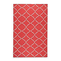 Surya Winslow Trellis Rug in Red/Ivory