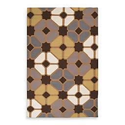 Amadora 5-Foot x 8-Foot Rug in Geo Chocolate/Tan