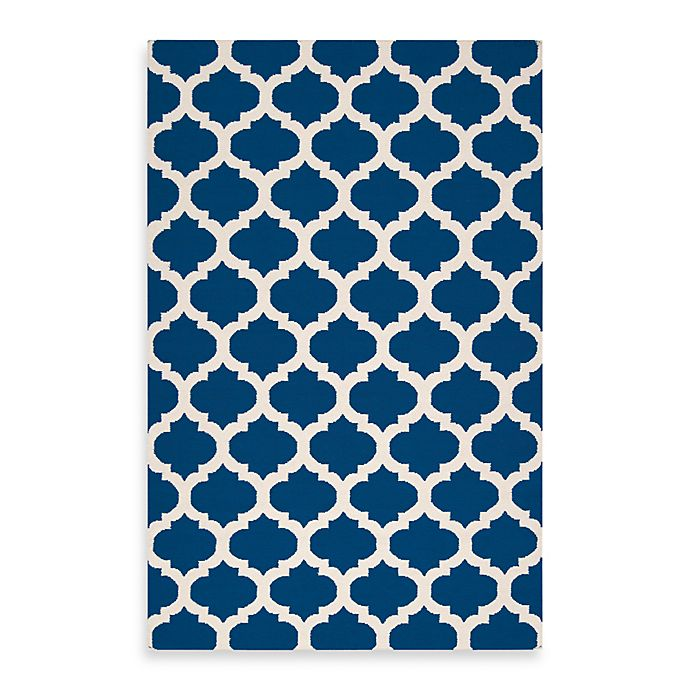 Alternate image 1 for Surya Evesham 2' x 3' Handcrafted Accent Rug in Royal Blue/Ivory