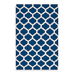Surya Evesham Rug in Royal Blue/Ivory